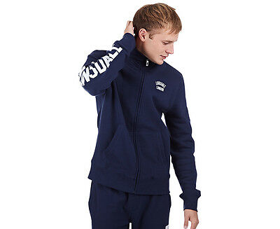 Lonsdale Men's Timothy Zip Sweater - Navy/White