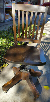 Antique Office / Desk Chair, California Desk Co. Tilts, Rotates and Swivels