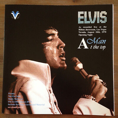 ELVIS PRESLEY A man at the top 2 LP + DVD promo Live 1970 Study RARE Lim Ed