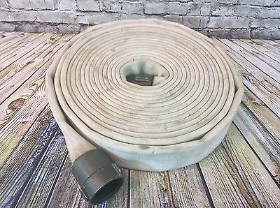 """2-1/2"""" x 50' Rubber Double Jacket Fire Hose w/ Couplings Red Head NH"""