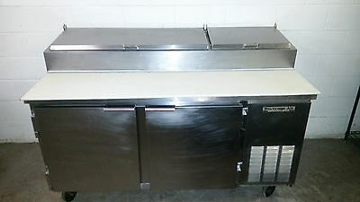 """67"""" Beverage Air DP67 Refrigerated Pizza Prep Table 2 Door Tested 115 Volt"""