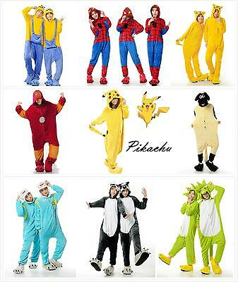Unisex Adult Pajamas Kigurumi Cosplay Costume Animal Onesie1