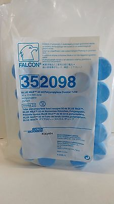NOS! LOT OF (24) FALCON 50mL BLUE MAX CONICAL CENTRIFUGE TUBES 352098