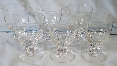 """Heisey Crystolite Fruit Cocktail 3 5/8"""" set of 6"""