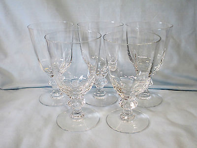 """Heisey Crystolite Water Goblet 6"""" set of 5"""