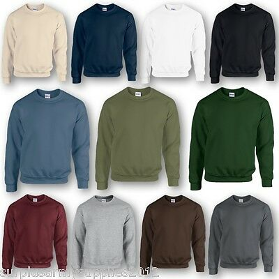 Army Style Plain Sweatshirt Mens S-2Xl British Military Cadet Jumper Mens