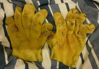1 Pair of Fancy Dress Rubber Large Monster Human Hand Gloves