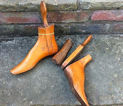 Pair of antique Victorian ladies boot trees