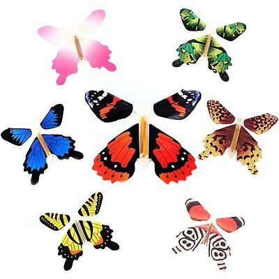 7Pcs Magic Butterfly Change Paper Flying Fluttering Toy Girls Boys Birthday Gift