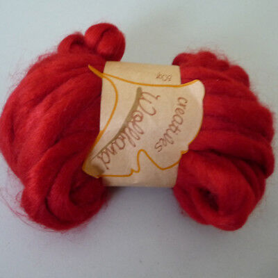 Decor Wool band cord Ball of ideal for Frisk 12mm light red 50g/9m