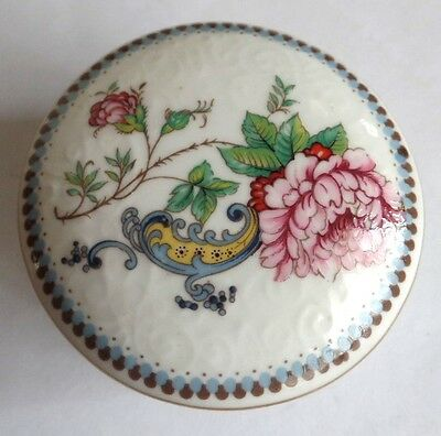 Vintage Crown Staffordshire Chelsea Manor Trinket Box
