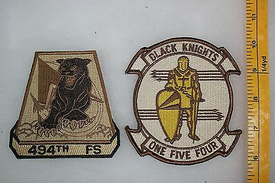 US Desert Storm Or Post Subdued 154 Black Knights 494 Squadron 2 Patch Lot SQ004