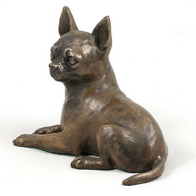 Chihuahua, dog bust/statue on wooden base , ArtDog Limited Edition, CA
