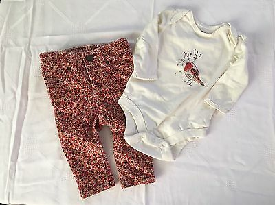 Baby Gap Girls One Piece and Corduroy Pants size 3-6 months
