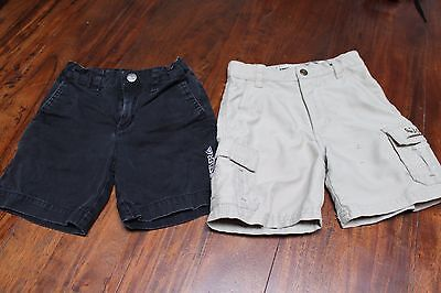 QUIKSILVER Toddler Boys Size 2T Shorts Black Beige Adjustable Waist