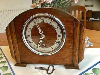 Lovely 'anvil' Westminster Chiming Mantel Clock - Working With Key