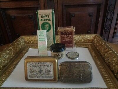 Vintage Medical Tins and Boxes - Lot of 7