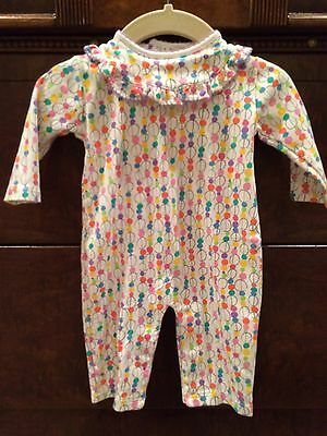 Pippen Lane 3 Months Baby Girl Outfit Long Sleeve Romper Circus White Purple