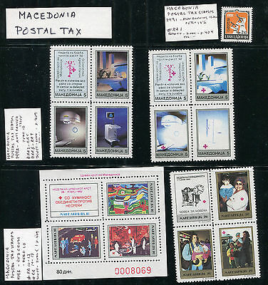 Macedonia - RA2 // RA128 Postal Tax Issues - Varying Conditions - B0181