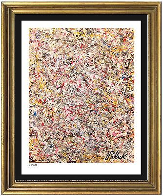 "Jackson Pollock Signed & Hand-Numbered Ltd Ed ""Untitled"" Litho Print (unframed)"