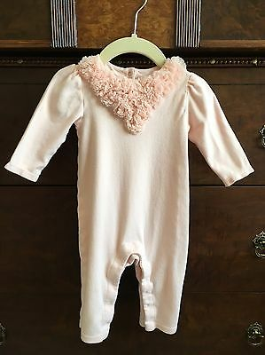 Baby Gap 3-6 Months Baby Girl Long Sleeve Romper Pink Outfit