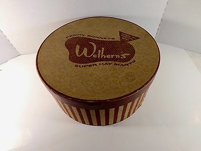 Vintage Wethern's Super Hat Marts Ladies' Hat Box