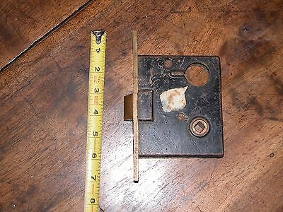 antique mortise lock and brass push button