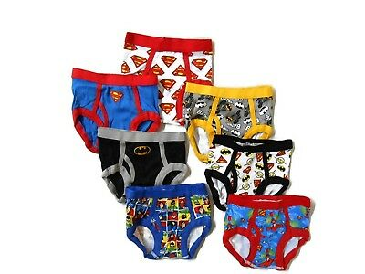DC Superhero Friend's Boys Briefs 7-Pack Underwear Size 2T Superman Batman Flash