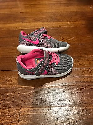 Nike Youth Girls Size 8, Gray With Pink