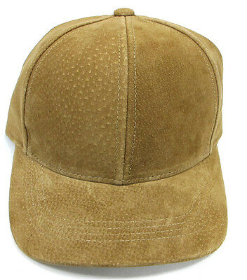 Men or Women's High Quality Suede Leather Ball Cap 4 Color Choice Made in USA