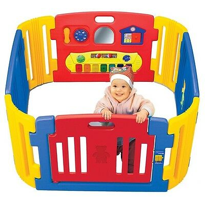 NEW Little Playzone Lights Sounds Playpen Play Yard Gate Activity Keyboard Baby