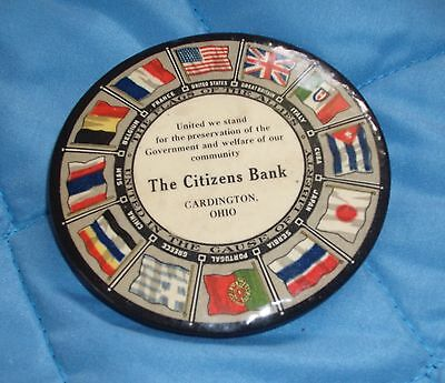 Pocket Mirror Flags Of The Different Countrys The Citizens Bank Cardington Ohio