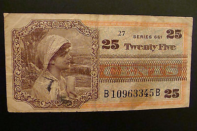 Military Payment Certificate 25 Cents series 661
