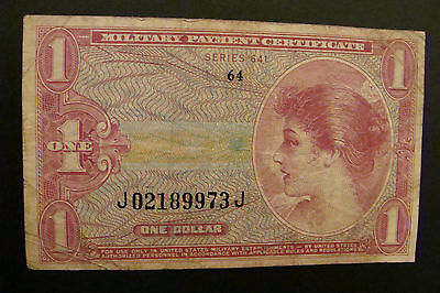 Military Payment Certificate 1 Dollar Series 641