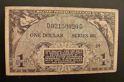 Military Payment Certificate 1 Dollar Series 481