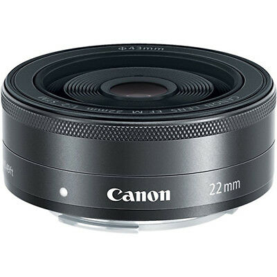 Canon EF-M 22mm f/2 STM Lens For EOS M Camera USA Warranty