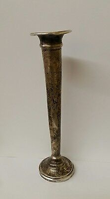 "Vtg 6"" Sterling Weighted Fluted Bud Vase"