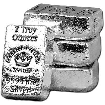 (2) 2 Troy Oz .999 Silver Monarch Hand Poured Crown Bars +3 Jars 24K Gold Flakes