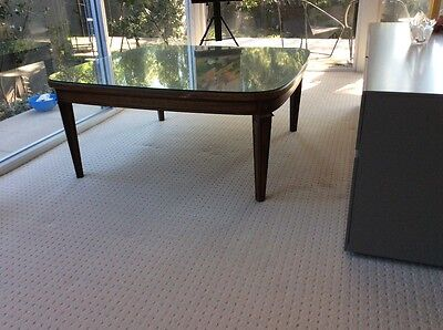 large coffee table wood glass