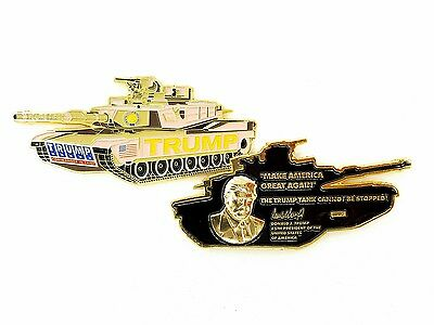 """President Trump Coin """"The Trump Tank Cannot Be Stopped!"""" M1A2 Challenge Coin"""