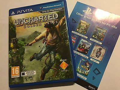 The Box & Artwork Only For Ps Vita Uncharted Golden Abyss (No Game!!)