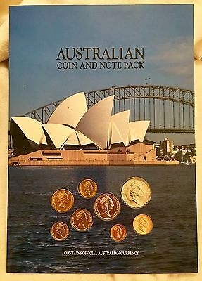 1989 Australia Dollar Coin and Note Pack: $1 $2 Currency & Proof Set