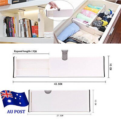 Drawer Dividers White Spring Loaded Expandable Kitchen Bedroom Organizer EA