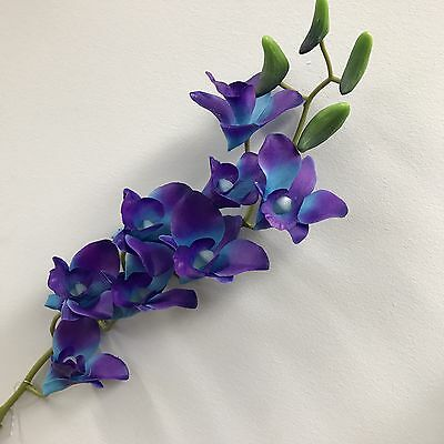 1x Latex Real Touch Singapore Blue Purple Orchid Dendrobium Orchids