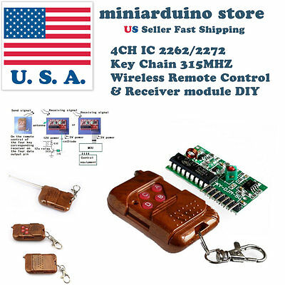 4CH IC 2262/2272 Key 315MHZ Wireless Remote Control Receiver DIY module arduino