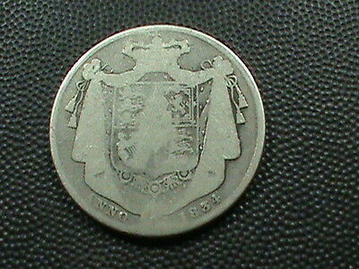 GREAT BRITAIN    1 / 2  Crown   1834     SILVER