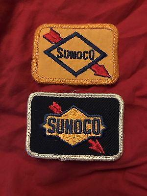 Pair Of Vintage Sunoco Gasoline Employees Patches
