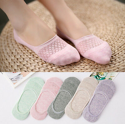 US 10 Pairs Women Invisible Nonslip No Show Loafer Boat Low Cut Cotton Socks 5-9