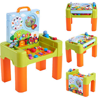 Kids Learning Activity Table With Quiz Music Shapes Lights Game Education Toys