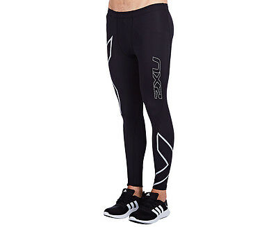Men's 2XU Hyoptik Compression tights - Black/Steel Reflective